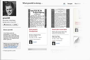Profile page on Detroit Free Press Archive